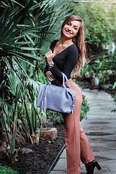 Женская кожаная сумочка 20 фиалковый флотар 01200115