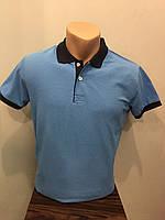 Мужская футболка поло комбинированная XL,3XL
