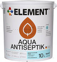Лазурь-антисептик Aqua Element каштан 10 л