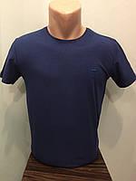 Мужская футболка стрейч котон однотонная M,L,XL