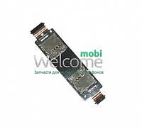Коннектор sim Asus ZenFone 5 (2 sim)