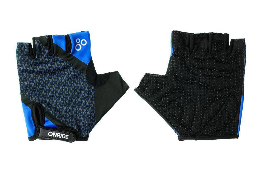 Рукавички велосипедні  Onride TID L Black Blue, фото 2