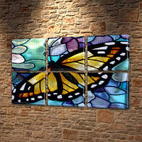 Бабочка Батик, модульная картина (животные, бабочки), 52x80 см, (25x25-6), фото 1