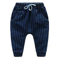 Детские трикотажные джинсы в полоску, код (38015)