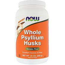 """Цельная оболочка семян подорожника NOW Foods """"Whole Psyllium Husks"""" растворимая клетчатка (680 г)"""