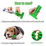 Зубная силиконовая щётка для собак Petolls зелёная размер L 12.9x18.2x5.9 см, фото 2
