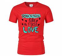 Футболка ROCK 'N' ROLL LOVE для мужчин красная