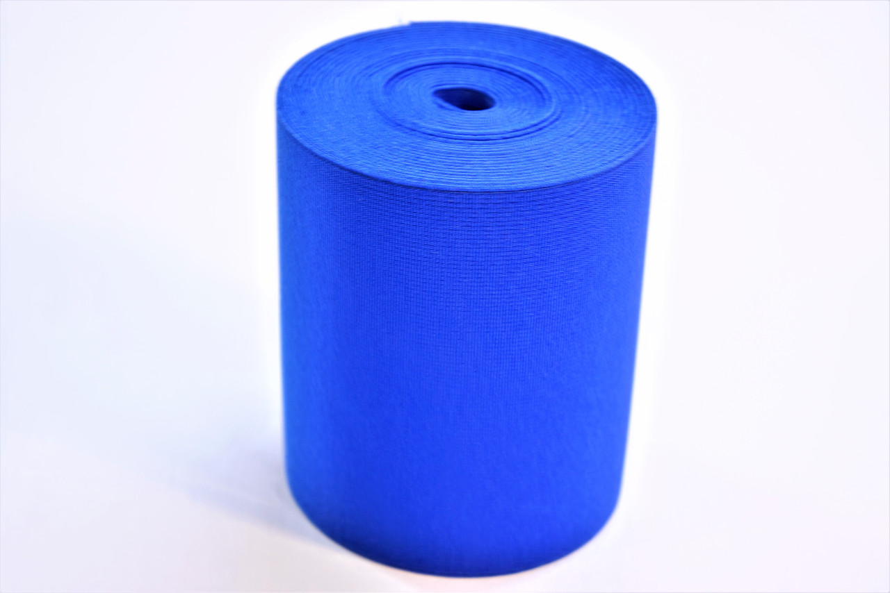 Резинки на голенище эластичные 10 см. цвет синий (Италия)
