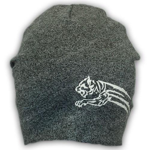 Весенняя двойная трикотажная шапка с принтом