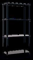 Стеллаж РЕК-3 (1500х750х300), на болтовом соединении, крашеный черный, 4 полки (металл), 35 кг/полка