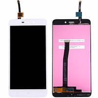 Дисплей (экран) для Xiaomi Redmi 4A ксиоми + тачскрин, белый.