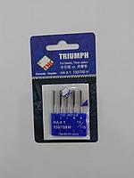 Иглы для бытовых швейных машин 130/705H Джинс №110 TRIUMPH (уп.5шт)
