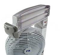 Настольный вентилятор, на аккумуляторе, с часами, PACIFIC BREEZE EL-2102 6 в 1, Охолодження і мікроклімат, Охлаждение и микроклимат