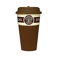 Термокружка Starbucks Старбакс керамическая, цвет - коричневый, Термокружки, Термокружки