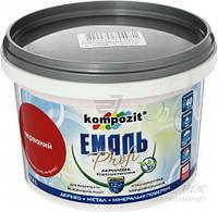 Эмаль акриловая Profi Kompozit красный глянец 0,3л