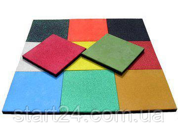 Резиновая плитка 500 х 500 (толщина разная мм), фото 2