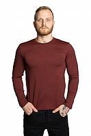 Реглан мужской с длинным рукавом бордового цвета