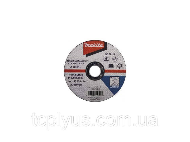 Відрізний диск  125х2.5 Макіта A-85313