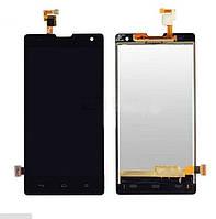 Дисплей (экран) для Huawei Honor 3C хуавей H30-U10 + тачскрин, цвет черный