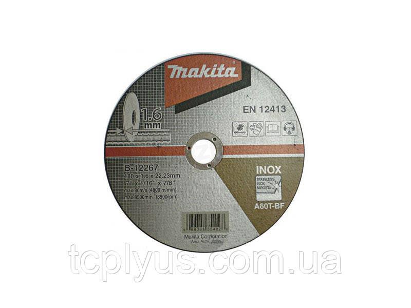 Відрізний диск  180х1.6 Макіта B-12267