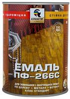 Эмаль ПФ-266С Спектр желто-коричневый глянец 0,67л 0,9кг