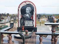 Памятник с большой Фото керамикой №44