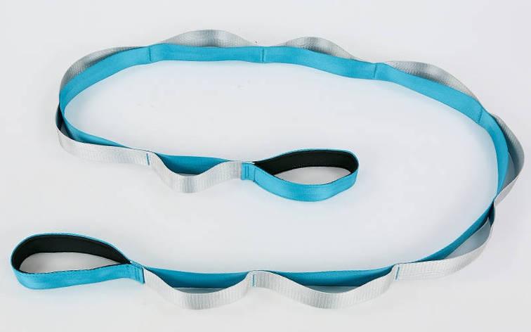 Стрічка для розтяжки 4х220см Блакитний FI-8369, фото 2