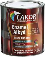 Эмаль алкидная для пола ПФ-266-К Lakor красно-коричневый глянец 2,8кг