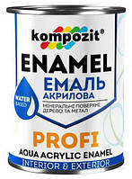 Эмаль Kompozit акриловая Profi зелений глянец 0.3л