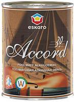 Эмаль алкидная Accord 30 Eskaro белый полумат 0,9л