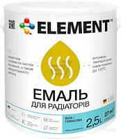 Эмаль акриловая для радиаторов Eskaro белый полумат 0,45л