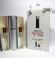 Мужская туалетная вода Armani Code Sport 3х15 ml  (реплика)