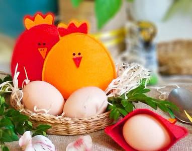 Пасхальные курочки для яиц