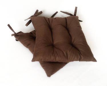Подушка на стул коричневая Gold  40*40 см