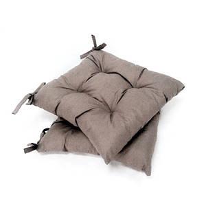 Подушка на стул серый Хамелеон  40*40 см подушка для стула табурета