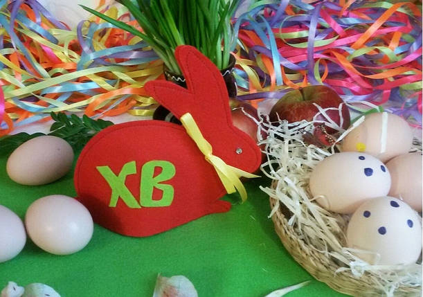 Пасхальный заяц для яиц красный кролик, фото 2
