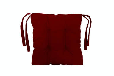 Подушка на стул красная 40*40 см