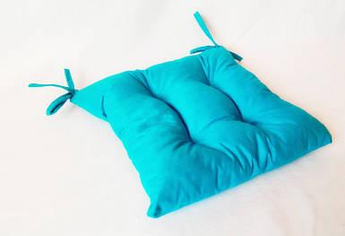 Подушка на стул голубая 40*40 см подушка для стула табурета