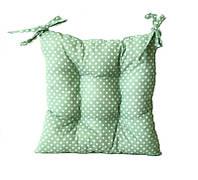Подушка на стул мятный горох 40*40 см подушка для стула табурета