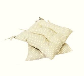 Подушка на стул бежевый горох 40*40 см подушка для стула табурета