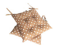 Подушка на стул коричневая в горох 40*40 см подушка для стула табурета