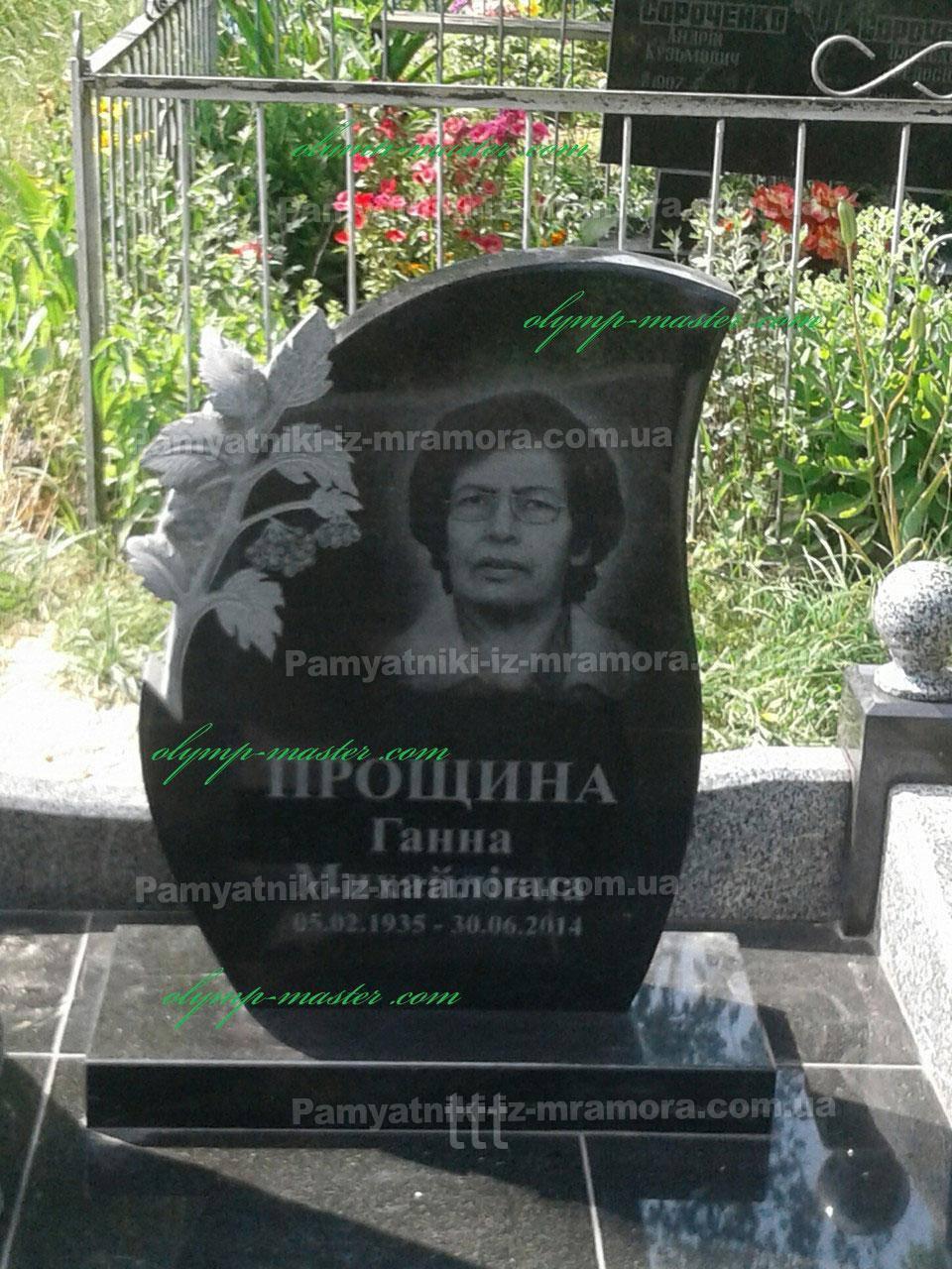Гранитные надгробия в европейском  стиле  № 56
