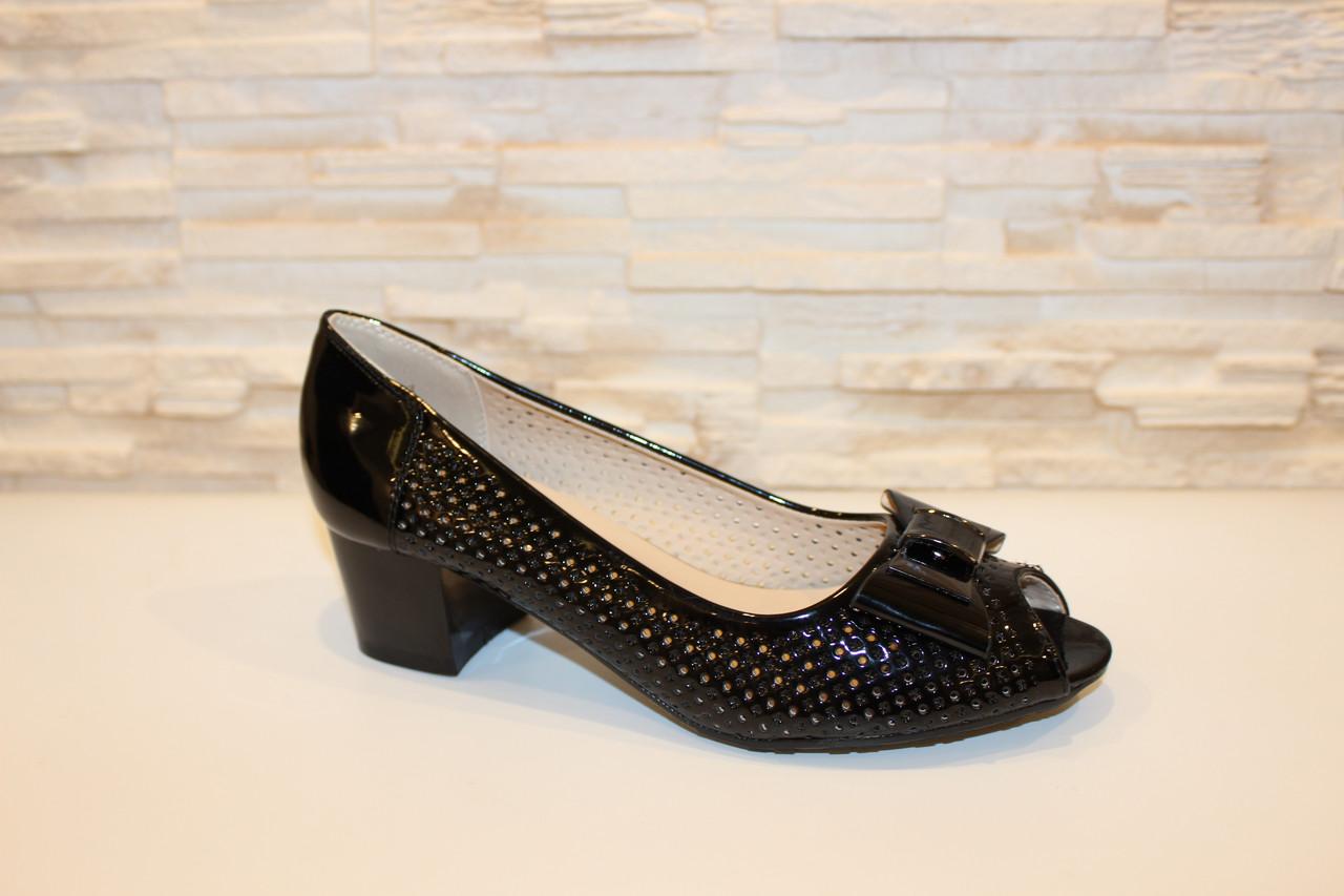 0a5111287 Туфли женские черные летние на каблуке код Б126 41 - купить по ...