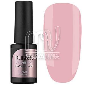 База каучуковая Naomi Rubber Base Camouflage №12, 6 мл нежно-розовая