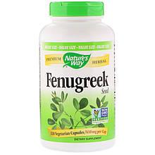 "Пажитник Nature's Way ""Fenugreek"" Seed, семена шамбала, 610 мг (320 капсул)"