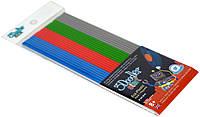 Набор стержней для 3D ручки 3Doodler Start Микс (24шт, серый, голубой, зеленый, красный) 3DS-ECO-MIX2-24