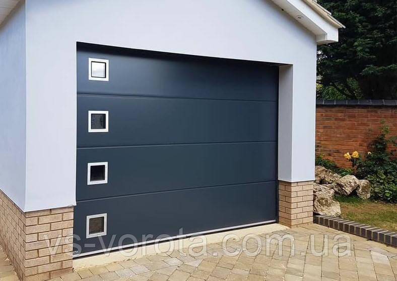 Ворота гаражные секционные GANT Чехия размер 3400х2000 мм