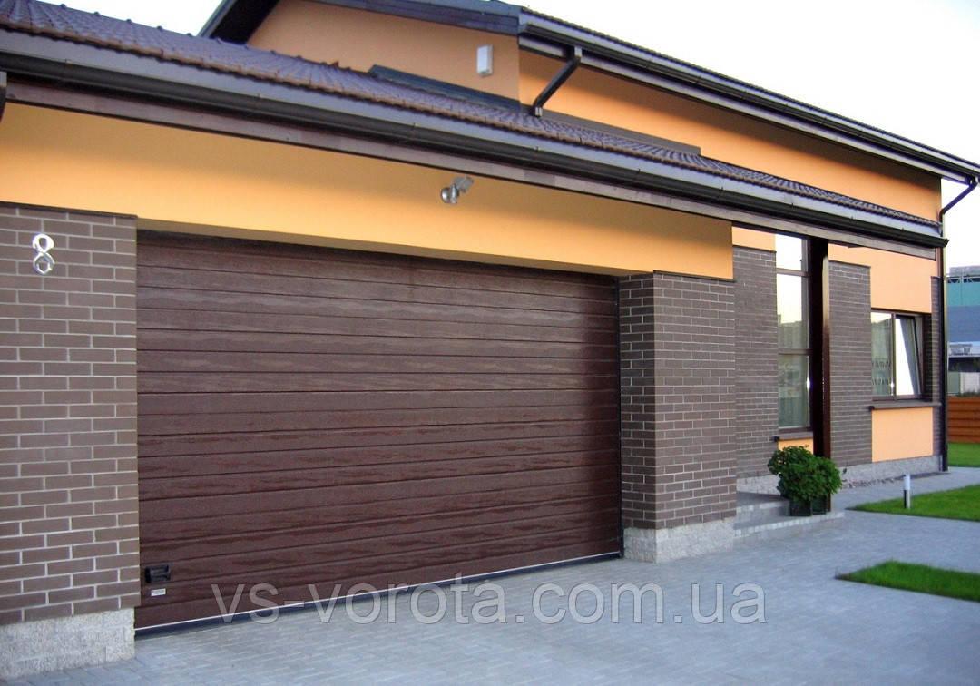 Ворота GANT размер 6000х2000 мм - гаражные секционные Чехия