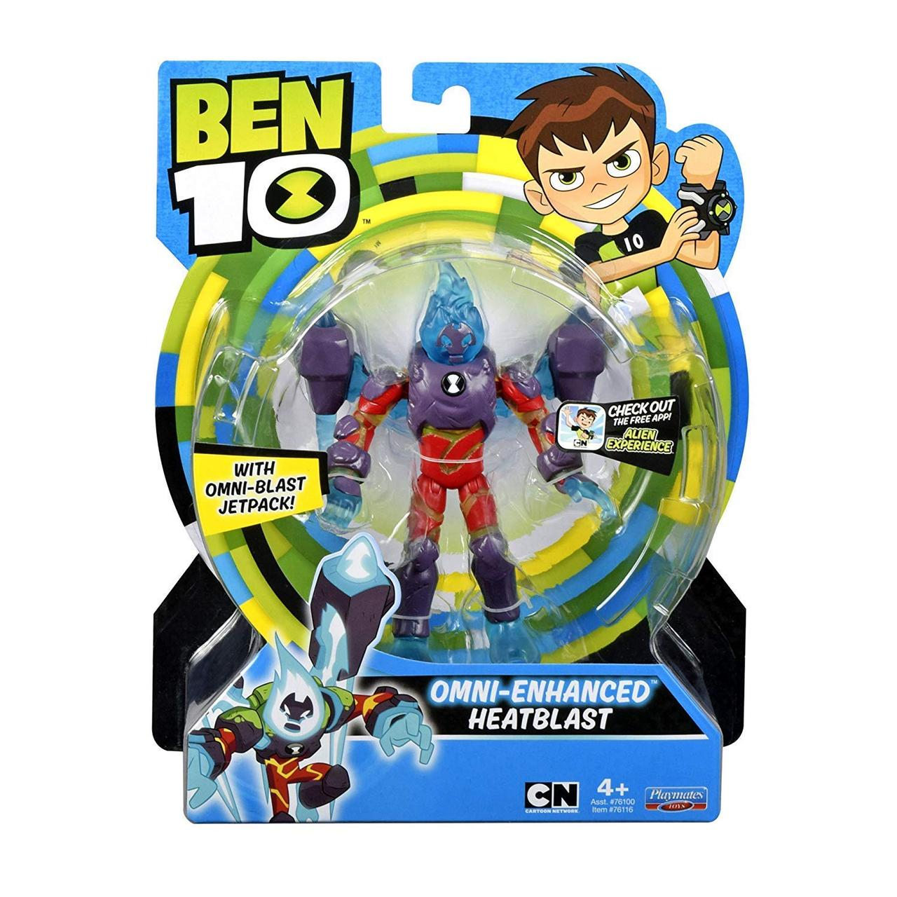 Фигурка Бен 10 Человек-огонь, омни-усиленный  Ben 10 Omni Enhanced Heat Blast Оригинал