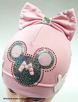 Детская трикотажная шапка на девочку (3-5 лет)